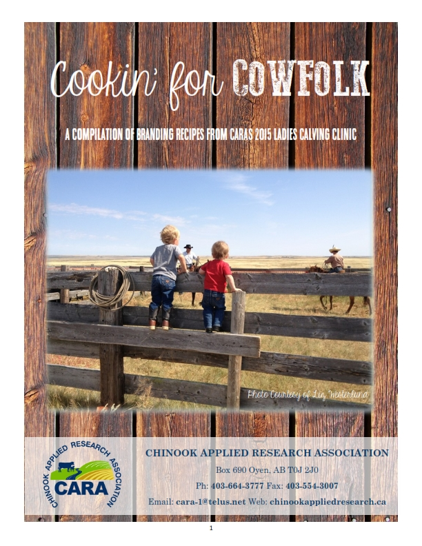 Cookin For Cow Folk Recipe Book _001